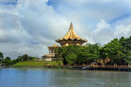 legislative: Kuching, Malaysia - Dec 30, 2015: Sarawak State Legislative Assembly, Dewan Undangan Negeri in Kuching. Sarawak Borneo