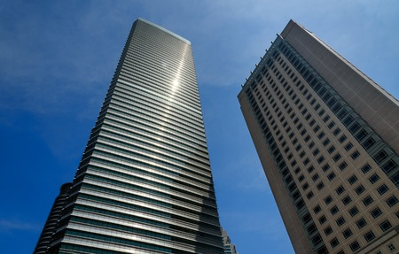 Kuala Lumpur, Malaysia -January 7, 2016: Morden Skyscrapers on blue sky background