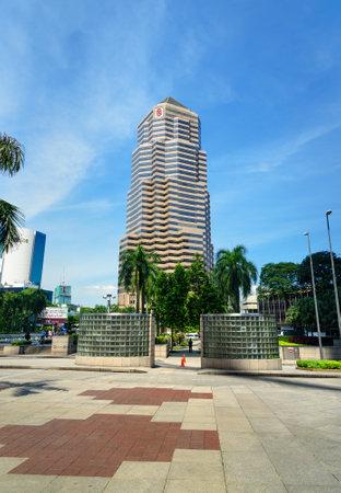 Kuala Lumpur, Malaysia -January 7, 2016: Tower of Public Bank. It is located opposite Petronas Twin Towers