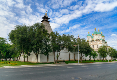 blessed trinity: View on Kremlin in Astrakhan. Russia. Wooden Kremlin was built in 1558. Stone fortification walls and eight towers were erected in the period of 1582 - 1589