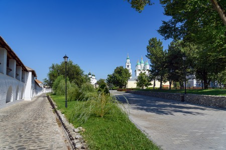 blessed trinity: Kremlin area in Astrakhan. Russia. Wooden Kremlin was built in 1558. Stone fortification walls and eight towers were erected in the period of 1582 - 1589