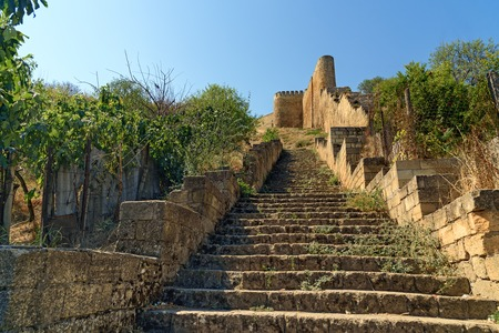 dagestan: Stairs to the Naryn-Kala fortress. Derbent. Republic of Dagestan, Russia