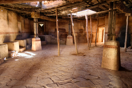 Ouarzazate, Morocco - Jan 4, 2017: Decoration in Atlas Corporation Studios is film studio. Ouarzazate area is film-making location, where Moroccos biggest studios