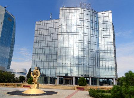 buisiness: Baku, Azerbaijan - September 11, 2016: Qafqaz Hotel Business Center. Baku is the largest city on the Caspian Sea and of the Caucasus region Editorial