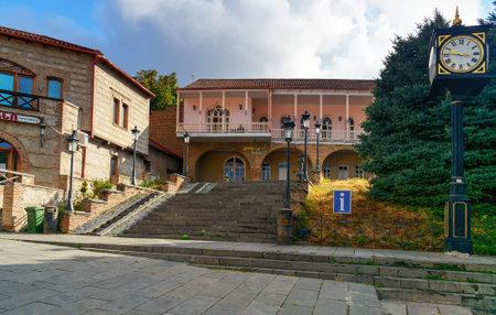 registro: Signagi, Georgia - Sent 17, 2016: Palacio de la boda en el centro de la ciudad de Signagi o Sighnaghi en la región de Kakheti. Es City of Love en Georgia, con muchas parejas que lo visitan solo para casarse Editorial