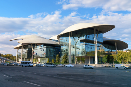 Tbilisi, Georgia - September 22, 2016: Public Service Hall. Completed in 2012 Editorial