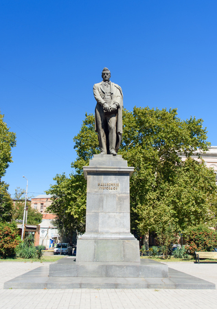 Tbilisi, Georgia - September 25, 2016: Monument to Alexander Griboyedov was Russian diplomat, playwright, poet, and composer