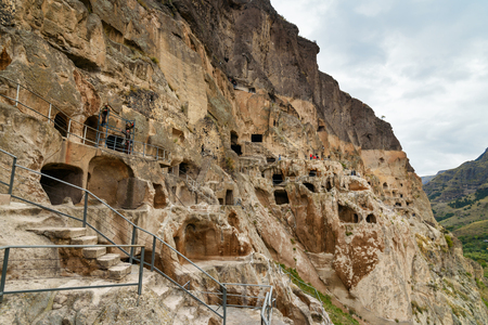 cavern: Vardzia cave monastery, complex of carved in rock . Georgia