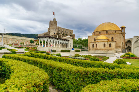 september 9th: Akhaltsikhe, Georgia - September 29, 2016: In the garden of Rabati Castle complex. Built in the 9th century Editorial