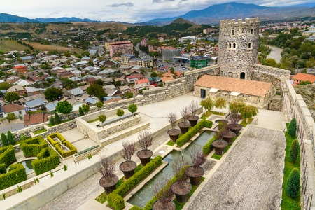 Akhaltsikhe, Georgia - September 29, 2016: View of Rabati Castle complex. Built in the 9th century