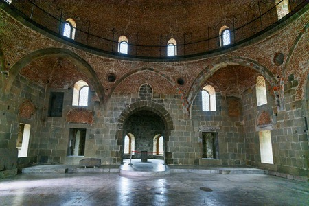Akhaltsikhe, Georgia - September 29, 2016: Inside of Mosque in Rabati Castle complex. Built in the 9th century