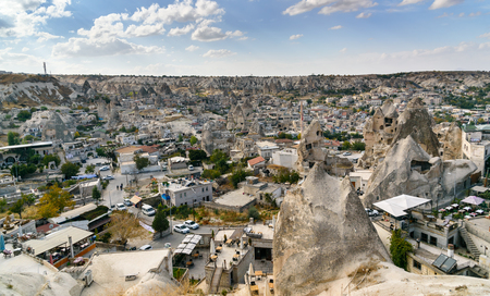 rock formation: Top view of Goreme town. Cappadocia. Nevsehir Province. Turkey