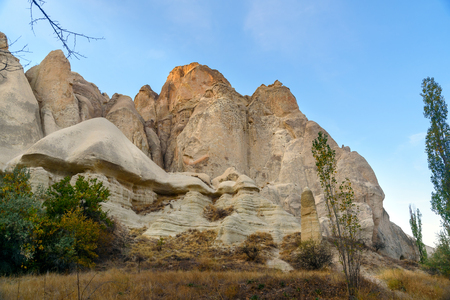 White Rock in Love valley. Cappadocia. Nevsehir Province. Turkey Stock Photo