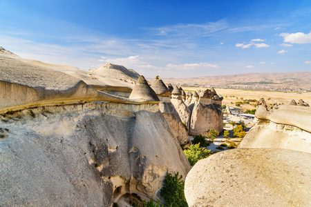Top view on Pasabag Fairy Chimneys in Cappadocia. Nevsehir Province. Turkey Stock Photo