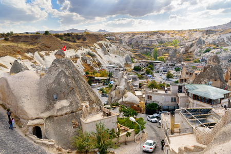 Top view of Goreme town. Cappadocia. Nevsehir Province. Turkey