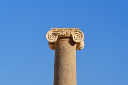colonnaded: Column on Main street in ancient Lycian city Patara. Antalya Province. Turkey