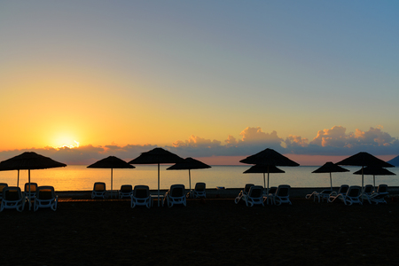 Cirali Olympos beach at sunrise. Antalya Province. Turkey