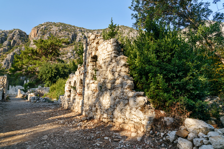 olympus: Avenue of North Necropolis. Ruins of ancient city Olympos in Lycia. Antalya Province. Turkey