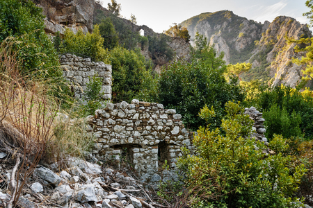 olympus: North Necropolis. Ruins of ancient city Olympos in Lycia. Antalya Province. Turkey Stock Photo
