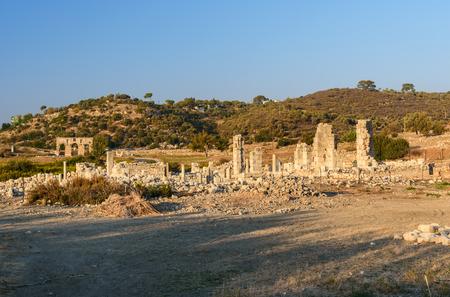 Ruin of Basilica in ancient Lycian city Patara. Antalya Province. Turkey