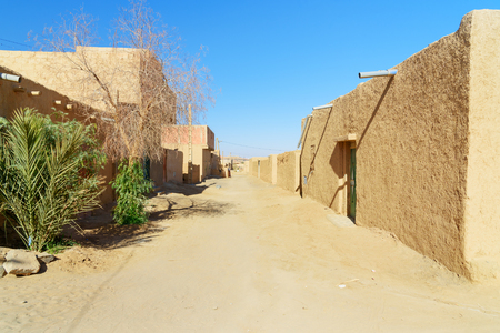 On the street in Merzouga village at Sahara Desert, Morocco Stock Photo