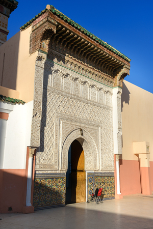 Zawiya Sidi Bel Abbes mosque in Marrakesh, Morocco Stock Photo