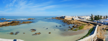 Panoramaansicht alter Stadt Essaouira. Marokko Standard-Bild - 89655556