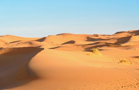 Erg Chebbi Sand dunes in Sahara Desert near Merzouga, Morocco