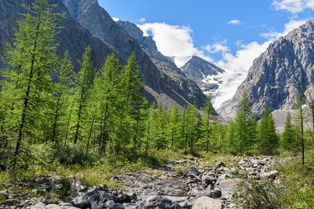 View on Glacier small Aktru. Altai Republic, Siberia. Russia