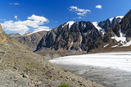 View on Glacier Big Aktru. Altai Republic, Siberia. Russia