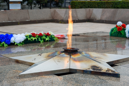 Eternal flame. Memorial to therussia fallen of the Second World War is located in front of the Irkutsk. Sajtókép