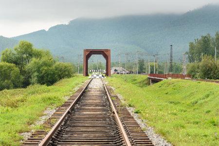 Circum-Baikal Railway. Part of the Historic Trans-Siberian railroad between Slyudyanka and Kultuk. Russia Editorial