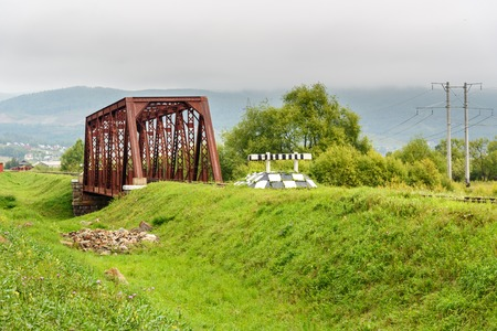 Circum-Baikal Railway. Part of the Historic Trans-Siberian railroad between Slyudyanka and Kultuk. Russia Stock Photo