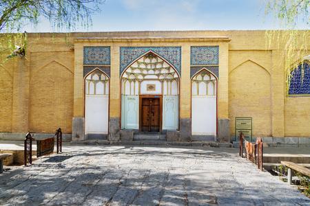 Entrance to Hammam-e Ali Gholi Agha is historical hammam in Isfahan. Iran