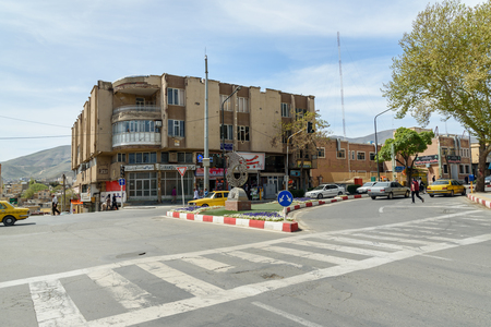 Sanandaj, Iran - April 2, 2018: View on road in center of city Sanandaj. Kurdistan Province Editöryel