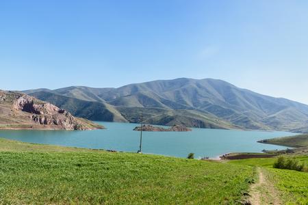 Gavoshan Dam Lake on the Gaveh River in Kurdistan Province. Iran