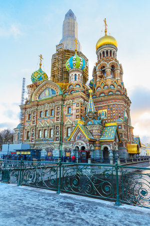 Church of the Savior on Blood in winter. Saint Petersburg, Russia