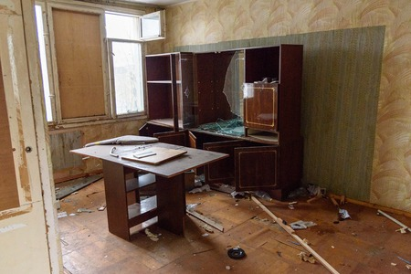 Apartment in Abandoned dwelling house. Saint Petersburg. Russia