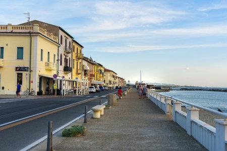 Pisa, Italy - September 24, 2018: View of Marina di Pisa