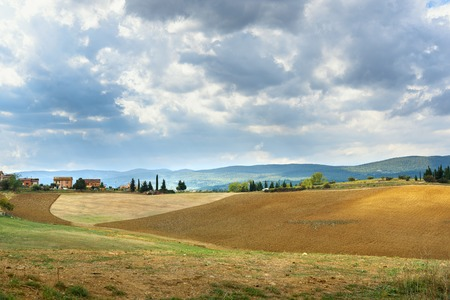 Landscape in Chianti region in province of Siena. Tuscany landscape. Italy