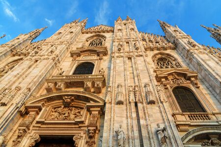 Fragment of Cathedral Or Duomo Di Milano in Milan. Italy