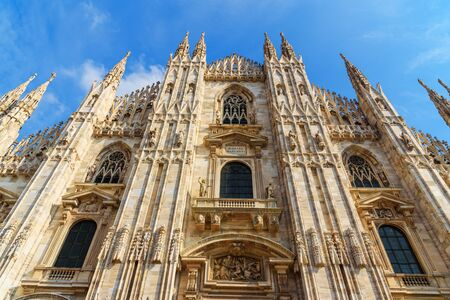 Cathedral Or Duomo Di Milano in Milan. Italy 스톡 콘텐츠