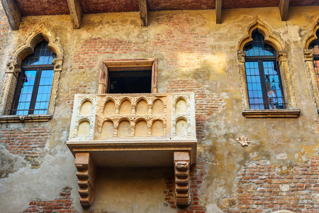Balcony of Juliet in Juliet Capulet house in Verona. Italy
