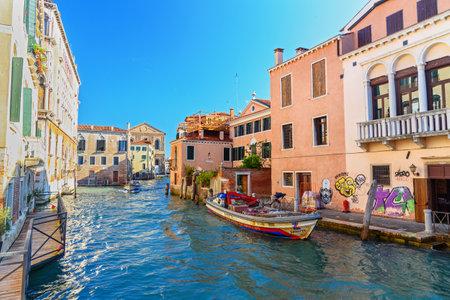 Venice, Italy - October 23, 2018: View of Canal Rio di Noale Editorial