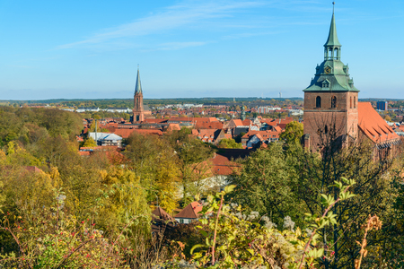 View of Luneburg from Kalkberg. Germany