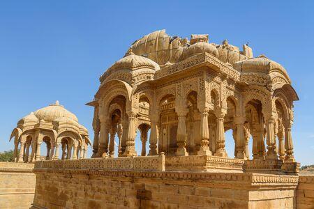 Bada Bagh ancient cenotaphs complex. Jaisalmer. Rajasthan India