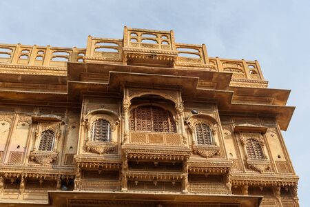 Patwon ki Haveli palace in Jaisalmer. Rajasthan. india