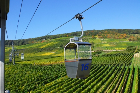 afield: Cable car, funicular across the wineyard