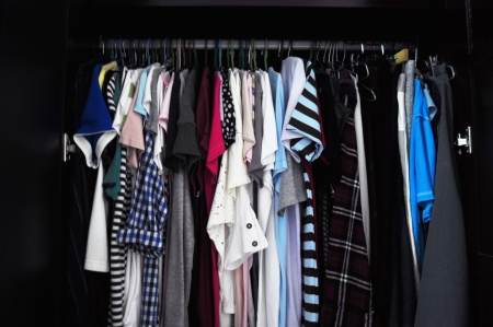 house robes: wardrobe full of various clothes