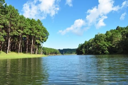 pang: clear lake on Pang Oung, Thailand